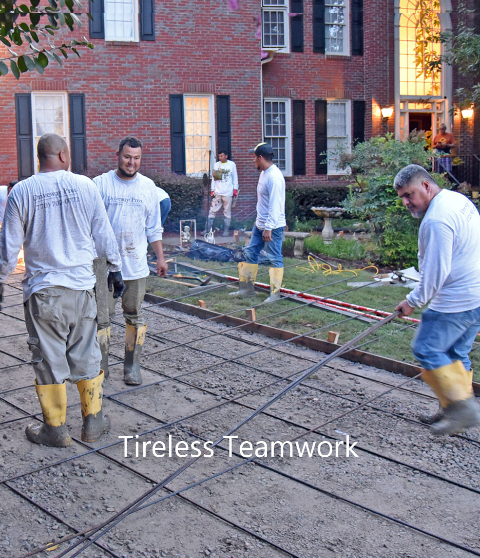 concrete driveway replacement johns creek ga